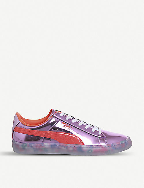 60449040841a PUMA Puma x Sophia Webster Basket Candy Princess metallic trainers