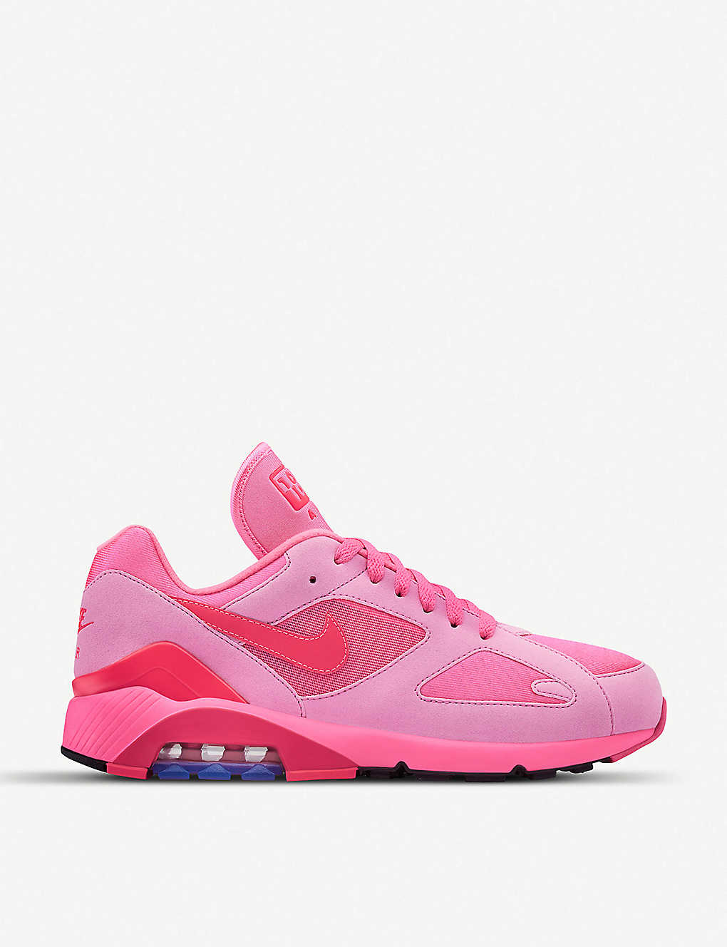 e6facf5974ec COMME DES GARCONS - CDG X Nike Air Max 180 faux-leather and mesh ...