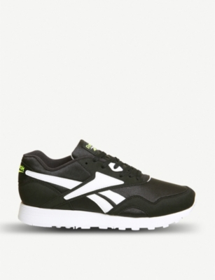 REEBOK Rapide leather and nylon colour block trainers