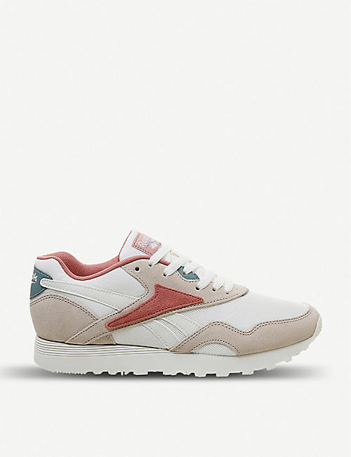 bf1694b96f2 REEBOK Rapide leather and textile trainers