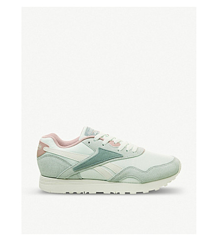 55488c396487 REEBOK Rapide leather and textile trainers (Storm+glow+sea+spray