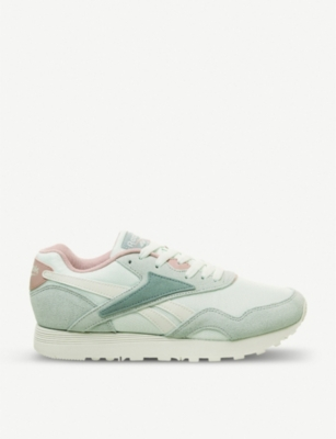 REEBOK Rapide leather and textile trainers