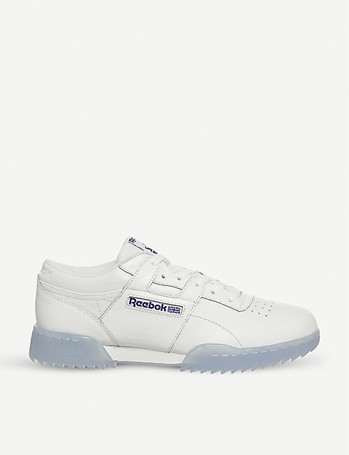 ff5cd80f48c21 REEBOK - Workout Ripple leather trainers