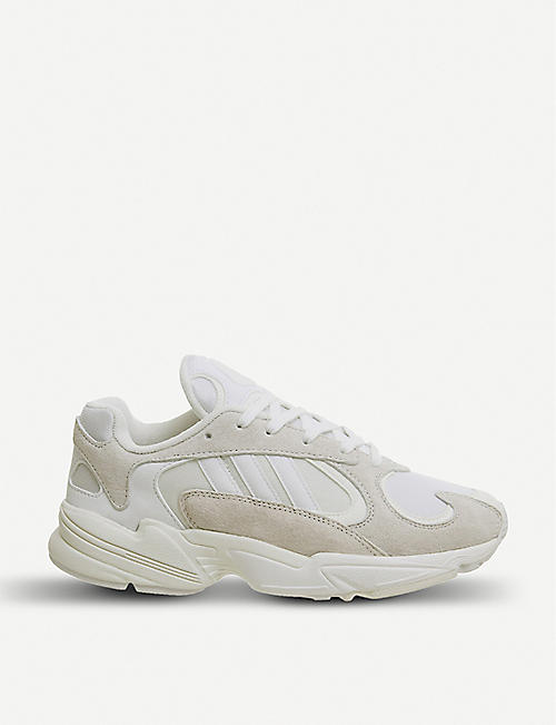 promo code a2563 51cf1 ADIDAS Yung 1 nubuck-leather trainers