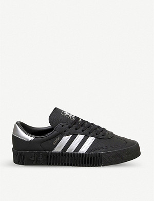 ADIDAS Sambarose leather low-top trainers