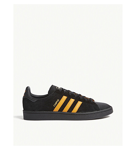 ... ADIDAS Porter Campus leather trainers (Black+orange+blue. PreviousNext 90ab19ec6