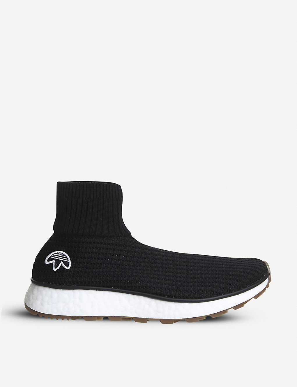 chaussures de sport 68d87 05705 ADIDAS - Aw Run Clean sock-fit high-top trainers ...