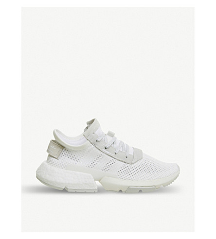 sports shoes 2b9d8 f11c8 ... ADIDAS POD-S3.1 leather and mesh-knit sneakers (White+white.  PreviousNext