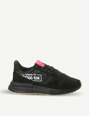 ADIDAS ZX500 RM suede and mesh trainers