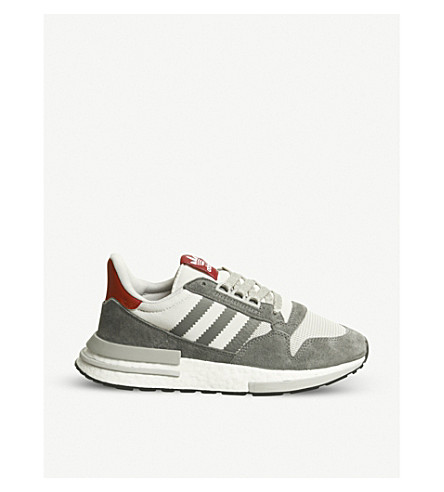 brand new e8495 7198c ... ADIDAS ZX 500 RM suede and mesh trainers (Grey+four+white. PreviousNext