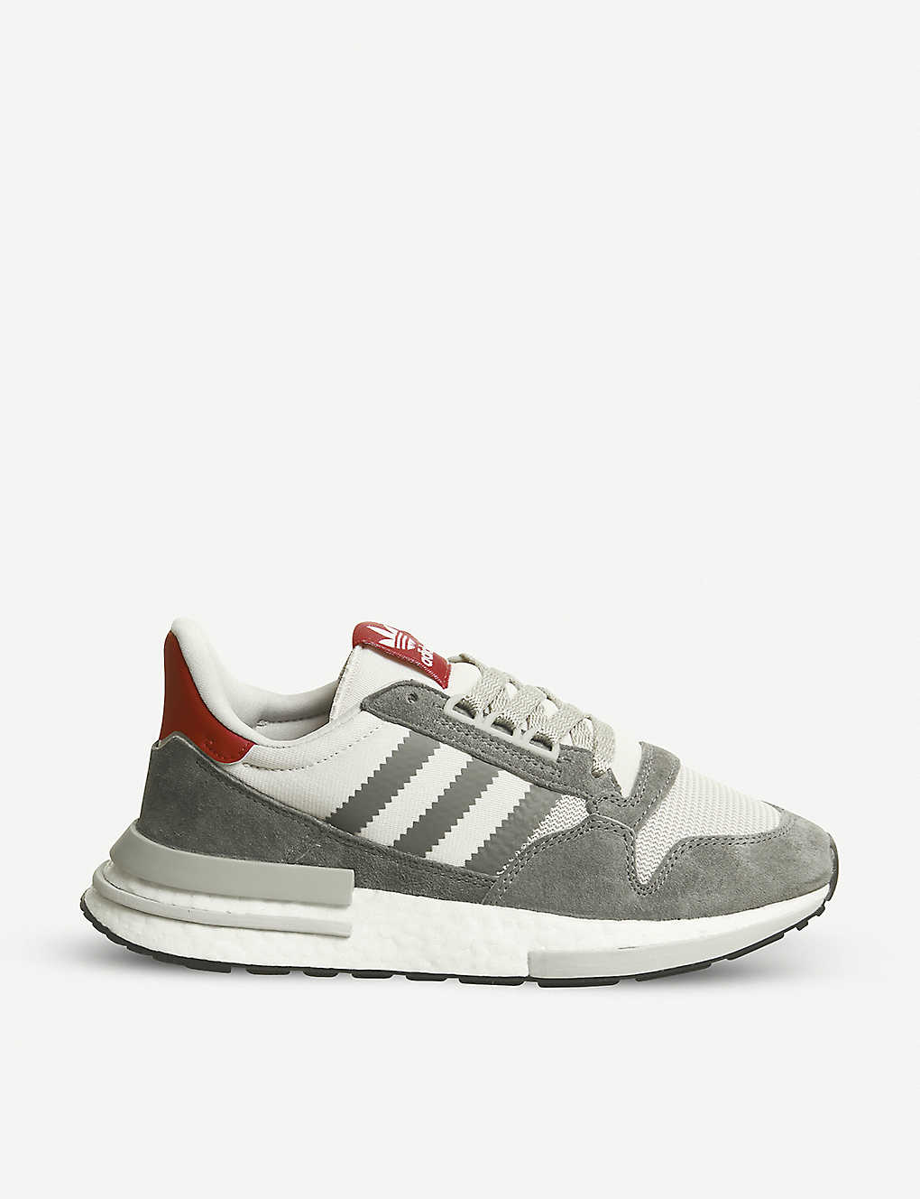 on sale 42bd7 ea6ce ZX 500 RM suede and mesh trainers - Grey four white ...