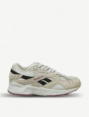 e1b9b0baebd REEBOK Aztrek faux-suede and textile trainers