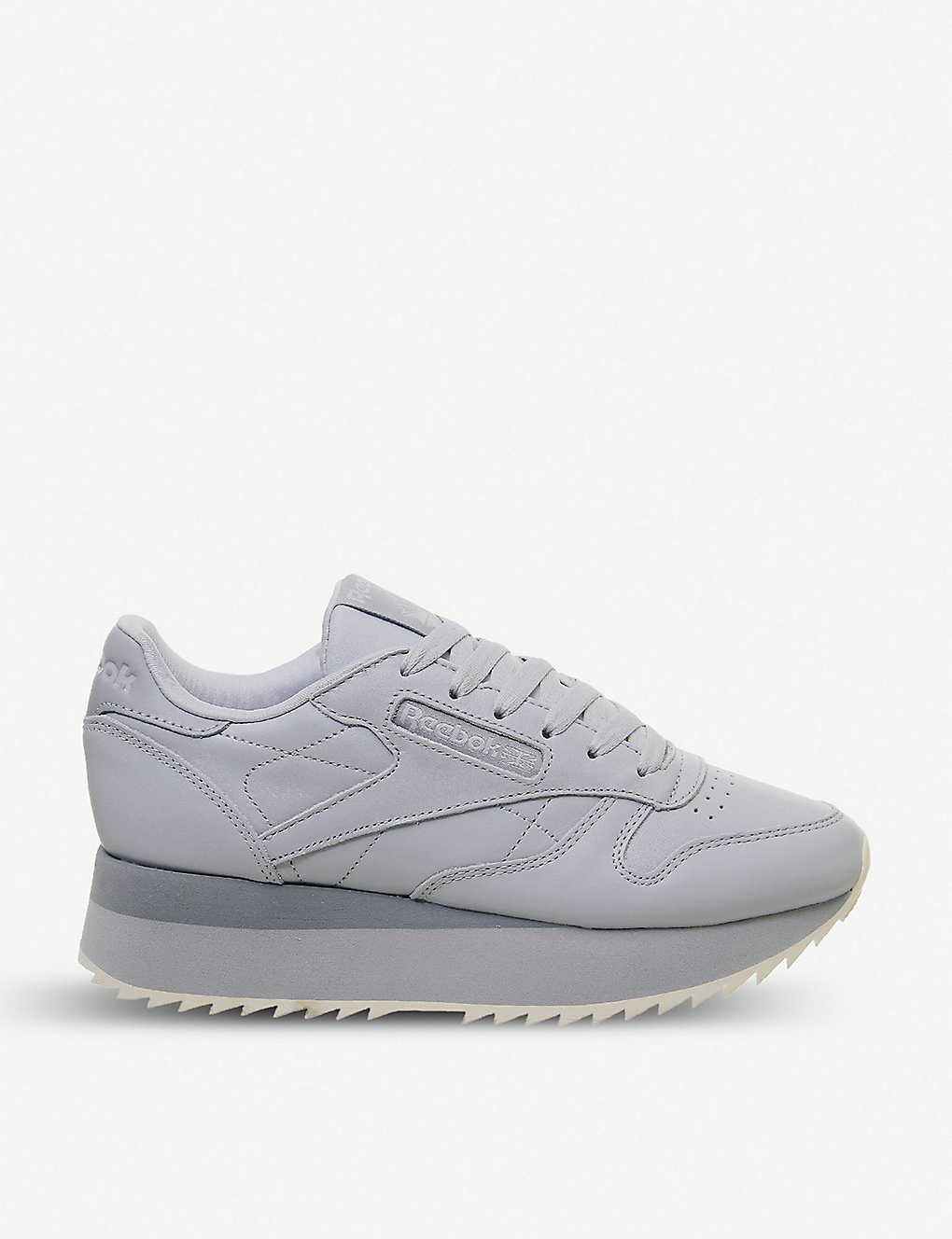 b66c290c88 REEBOK - Classic Leather Double platform leather trainers ...