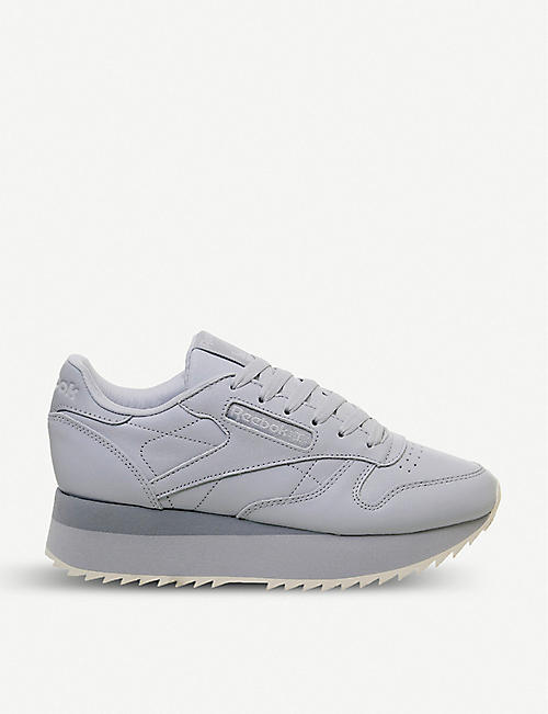 6f697f47dbef4 REEBOK Classic Leather Double platform leather trainers
