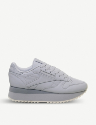 REEBOK Classic Leather Double platform leather trainers