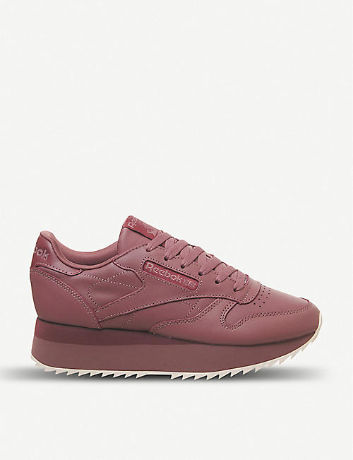 e6b9d970573f REEBOK Classic Leather Double platform leather trainers