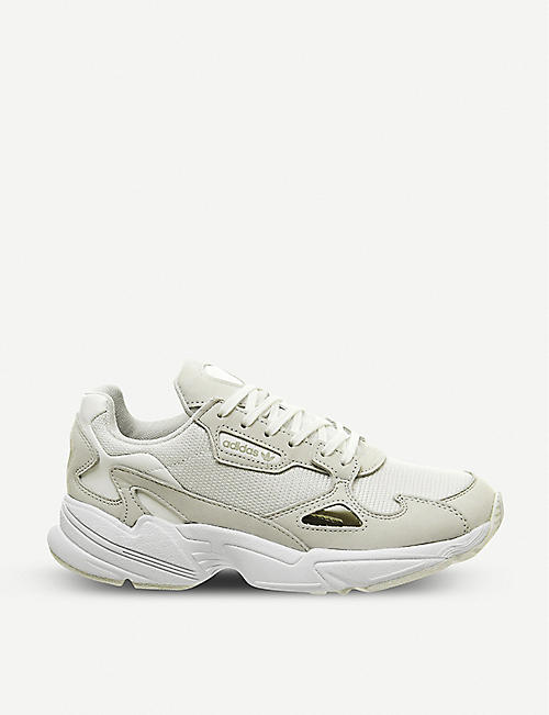 42c879260179 ADIDAS Falcon suede and mesh trainers