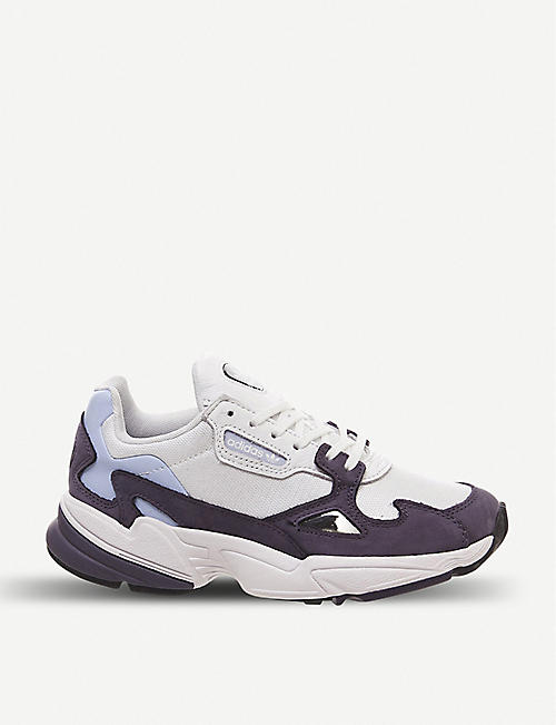 23be8b11b92a2 ADIDAS Falcon suede and mesh trainers