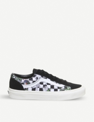 VANS Style 36 floral checked trainers