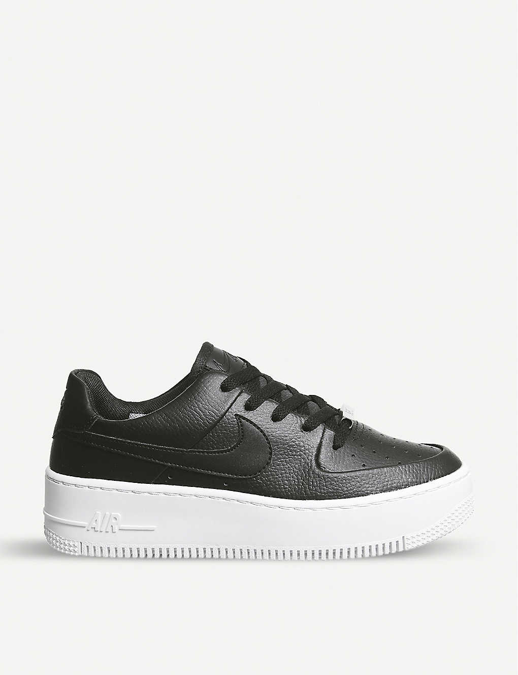 new product 425a8 85264 Air Force 1 Sage suede trainers - Black black white ...