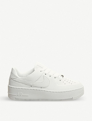 NIKE Air Force 1 Sage suede trainers