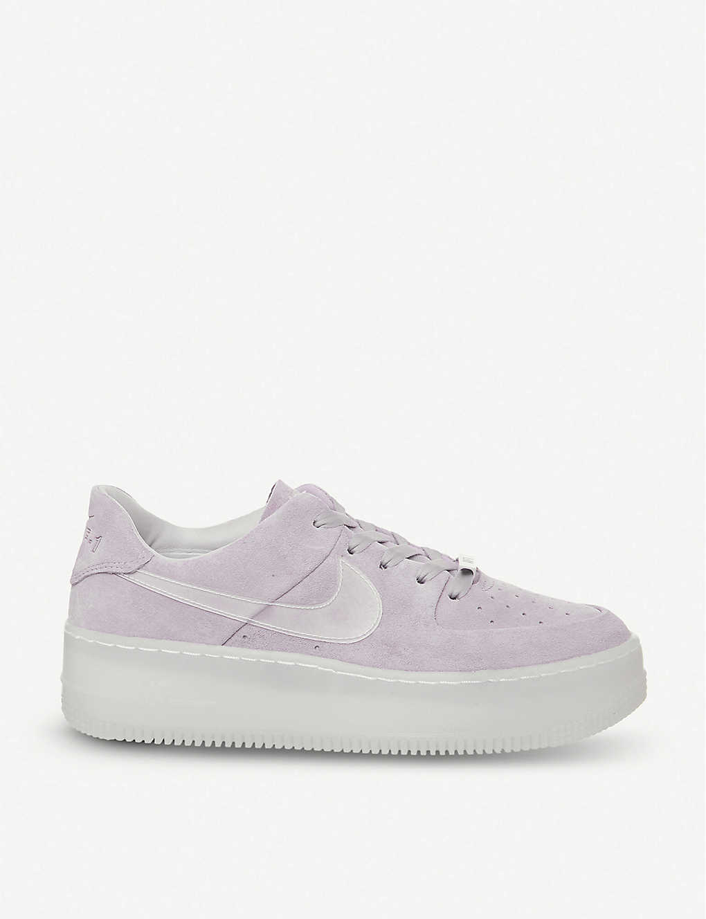 a4f485213e805 Air Force 1 Sage suede trainers - Violet irridescent ...