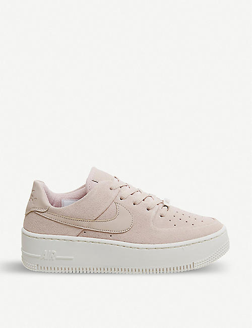 NIKE: Air Force 1 Sage suede trainers