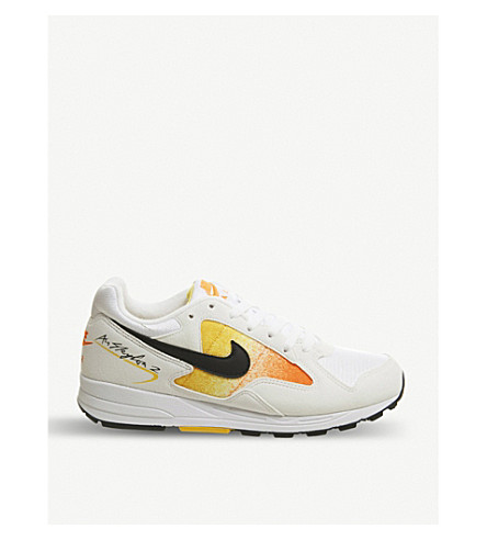 79677c70f45521 ... NIKE Air Skylon II mesh and suede sneakers (White+black+amarillo.  PreviousNext