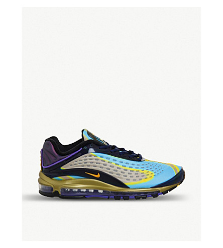 huge discount 72fee d3fbc NIKE Air Max Deluxe neoprene trainers (Navy+orange+gold