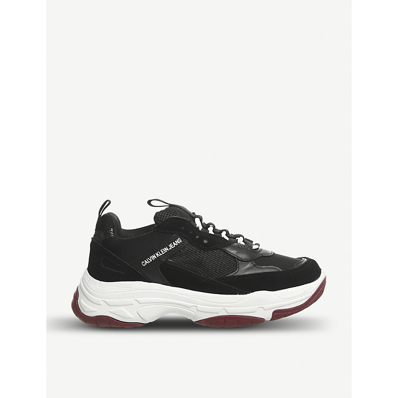 Calvin Klein MAYA SUEDE AND MESH TRAINERS