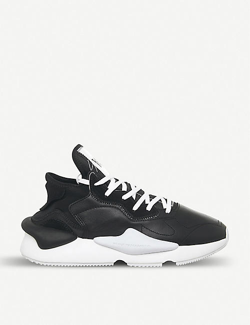 ADIDAS Y3 Y-3 Kaiwa leather trainers d8c3d5401d