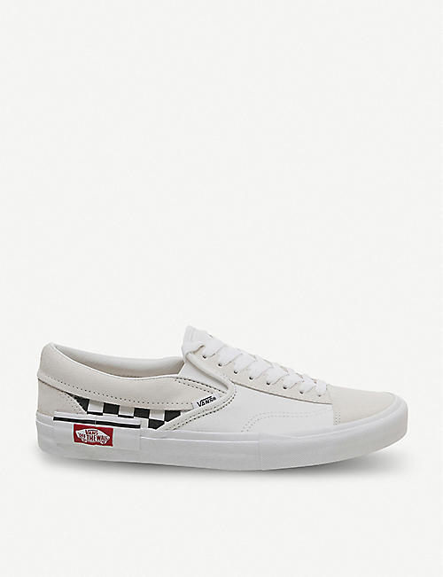 28e238af3b VANS Slip-on CAP Checkboard suede trainers