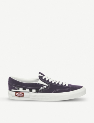 VANS Slip-on CAP Checkboard canvas and suede trainers