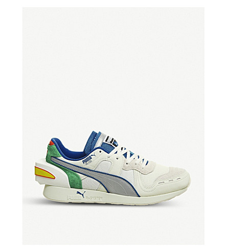 7dd7cee75994 PUMA - Puma x Ader Error RS-100 suede and mesh trainers