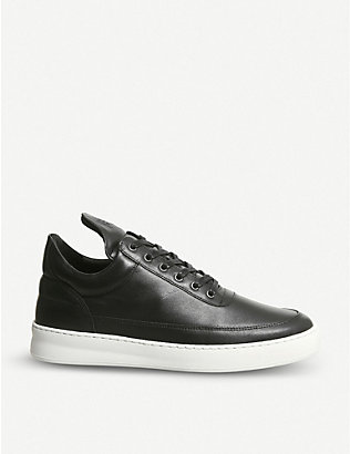 FILLING PIECES: Lane leather low-top trainers