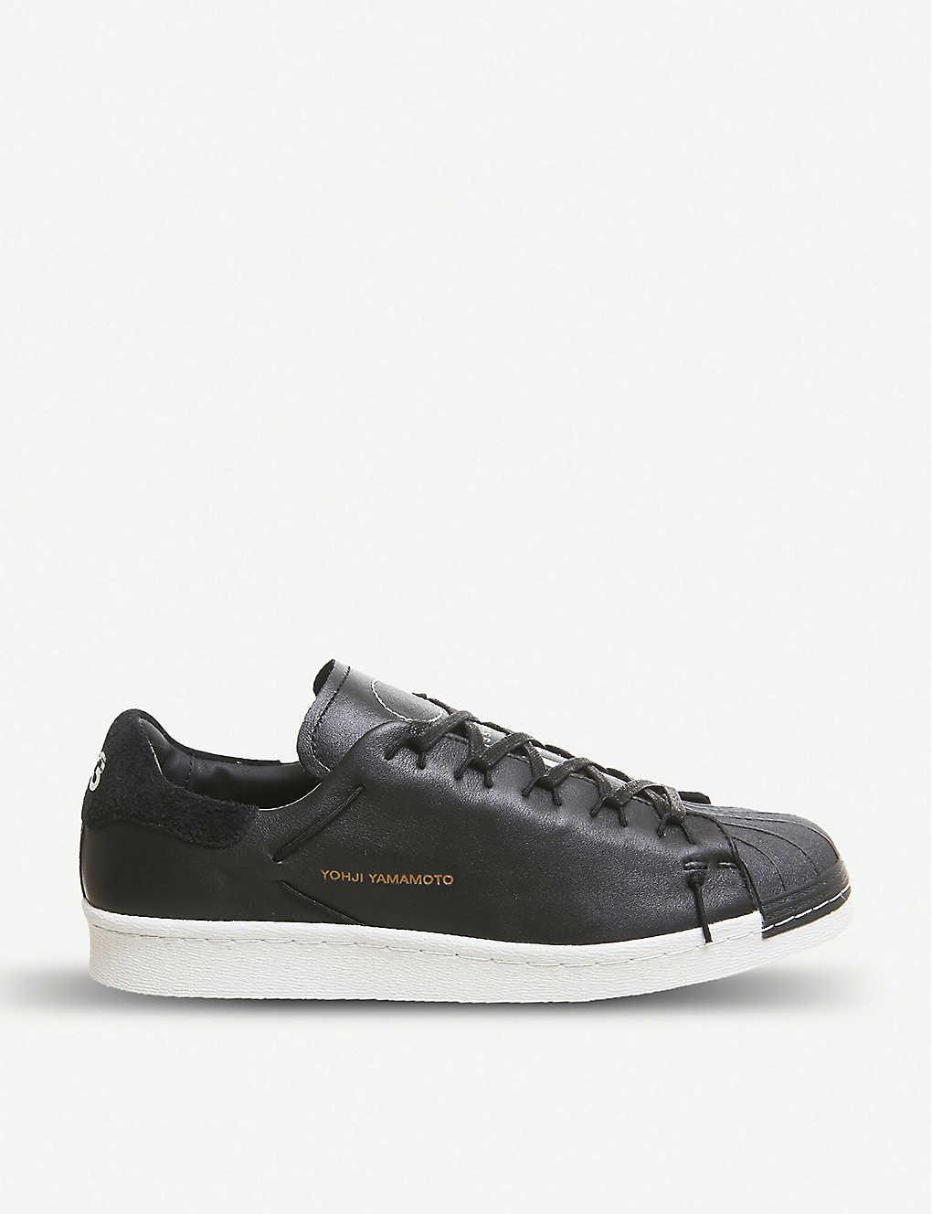 a7e9082e8951a Y-3 Super Knot leather trainers - Black white ...