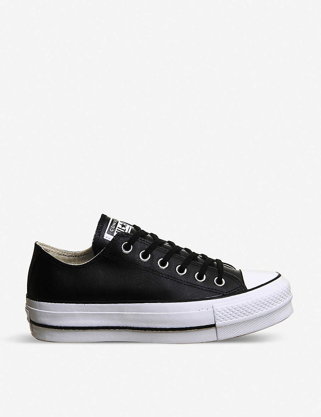 shoes, converse, low, black, leather, sneakers, trainers