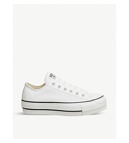 CONVERSE All Star leather low top trainers |