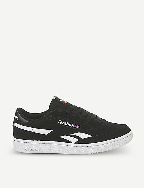 a1e9b8fc49810 REEBOK Revenge Plus suede and leather trainers