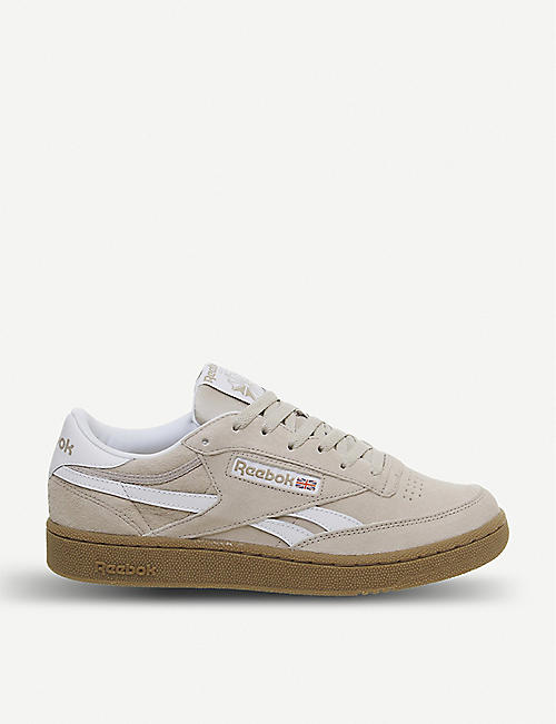 REEBOK: Revenge Plus suede and leather trainers