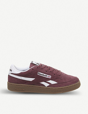 REEBOK Revenge Plus suede and leather trainers