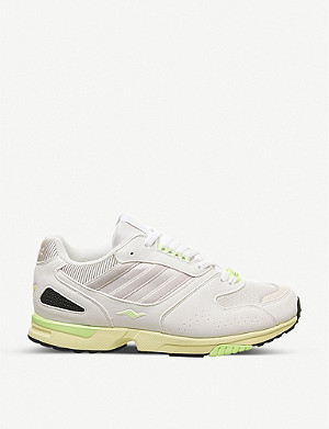ADIDAS ZX 4000 mesh and leather trainers
