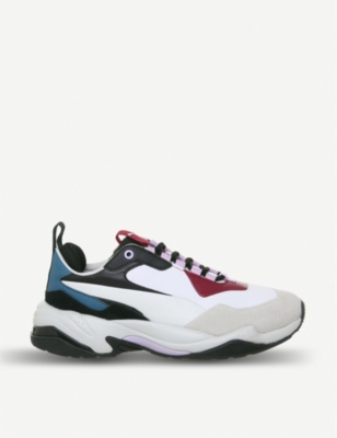 PUMA Thunder Rive nubuck and mesh trainers