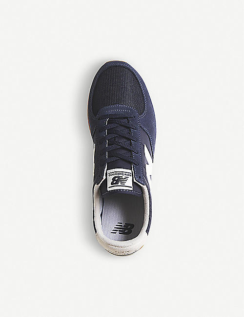 NEW BALANCE U220 suede and mesh trainers