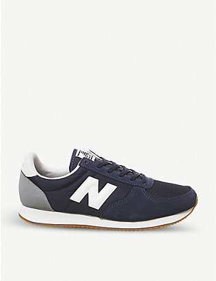 NEW BALANCE: U220 suede and mesh trainers