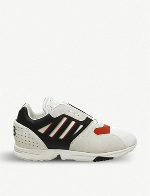 ADIDAS Y3 ZX Run leather, suede and mesh trainers