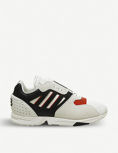 236e305a7 ADIDAS Y3 ZX Run leather, suede and mesh trainers