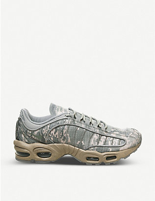 NIKE: Air Max Tailwind IV leather and mesh trainers