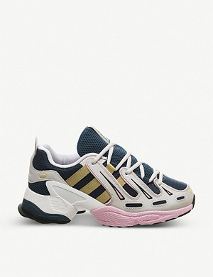 ADIDAS EQT Gazelle leather and mesh trainers