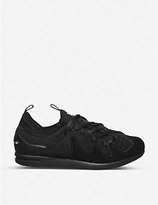 ADIDAS Y3: Manja suede and mesh trainers
